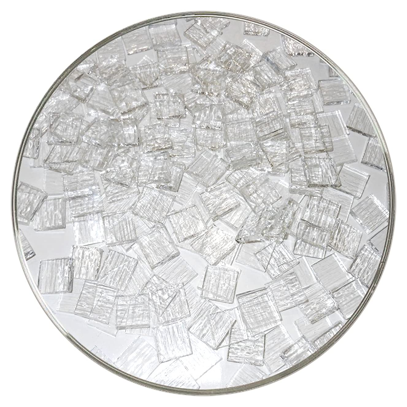 Pre-Cut Nips Clear Transparent Tekta, 90 COE, 1/4 lb - Made from Bullseye Glass