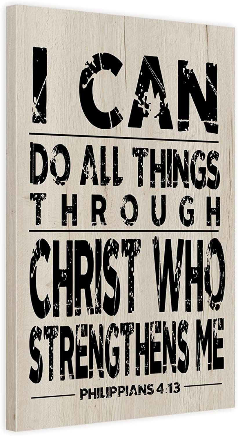 Christian Family Decor Wood Plaque Inspiring Quote 11x16 inch Bible Verse Sign Wall Hanging Decoration Soul Wall Art Serenity Prayer Signage Religious Faith Decorations for Home Wooden Picture