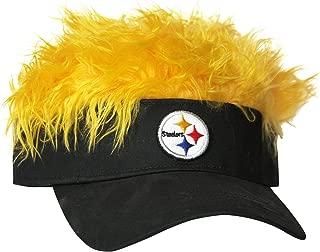 nfl visor with fake hair