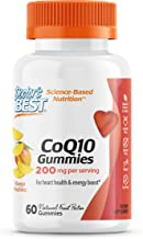 Doctor's Best CoQ10 Gummies 200 Mg, Coenzyme Q10 (Ubiquinone), Supports Heart Health, Boost Cellular Energy, Potent Antiox...