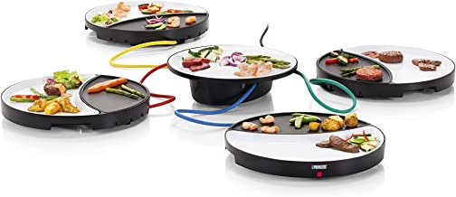 Princess 104000 Parrilla Dinner 4 All para 4 Personas, blanco con negro