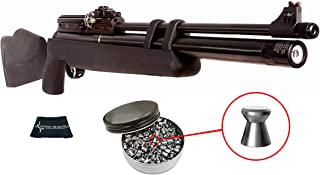 Hatsan AT44S10 .177 Caliber PCP Air Rifle with Included Pack of 500 Pellets Bundle (Pellets Caliber/Weight .177/7.48 Grains) and Wearable4U Cleaning Cloth