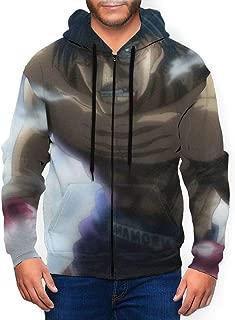 GASDFEFSD Mans Fashion Daily Full-Zip Cool Printed Polyester Jacket Coat