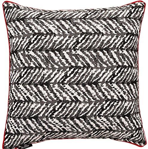 McAlister Textiles Baja Housse de Coussin en Coton | Assortiment de Taies d'oreiller à Motifs Géométriques pour Sofa, Canapé et Lit | Dimension - 50x50cm | Couleur Noir et Blanc