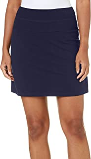 Womens Solid Tummy Control Skort Medium Navy Blue