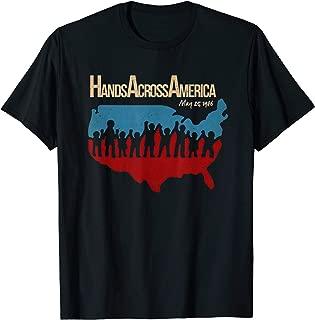 American Flag Hand Across America May 25 1986 shirts
