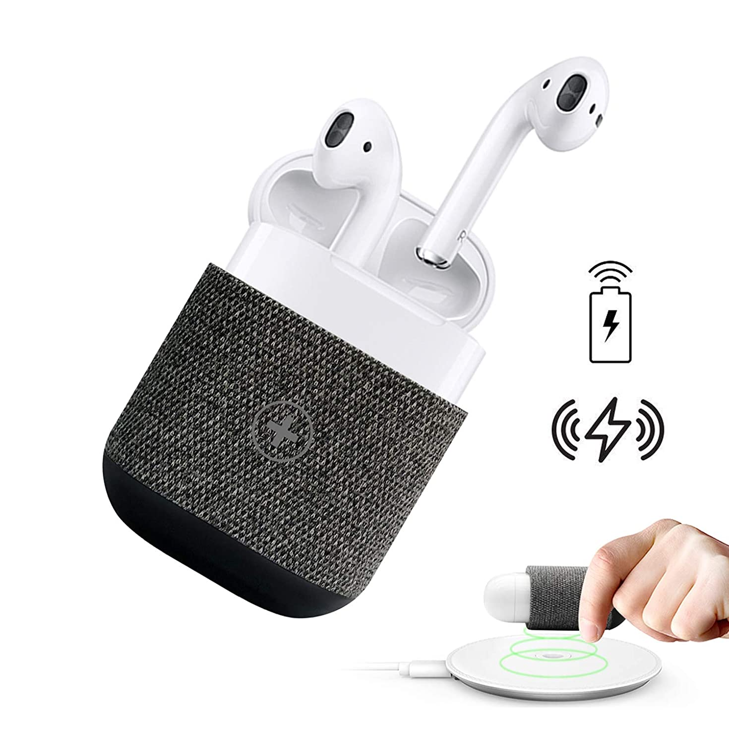 AirPods Case Cover - Uervoton Wireless Charging Case Accessories Protective Case for AirPods Wireless Charging, Compatible Any Qi Standard Wireless Charging Mats (a)