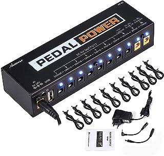 Asmuse Fuente de Alimentación Pedal Guitarra Electrica adaptador 9v Effect Pedal Power Supply Electrico Guitarra Power