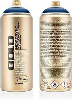 Montana Cans MXG-S5020 Montana Gold 400 ml Color, Shock Blue Dark Spray Paint,