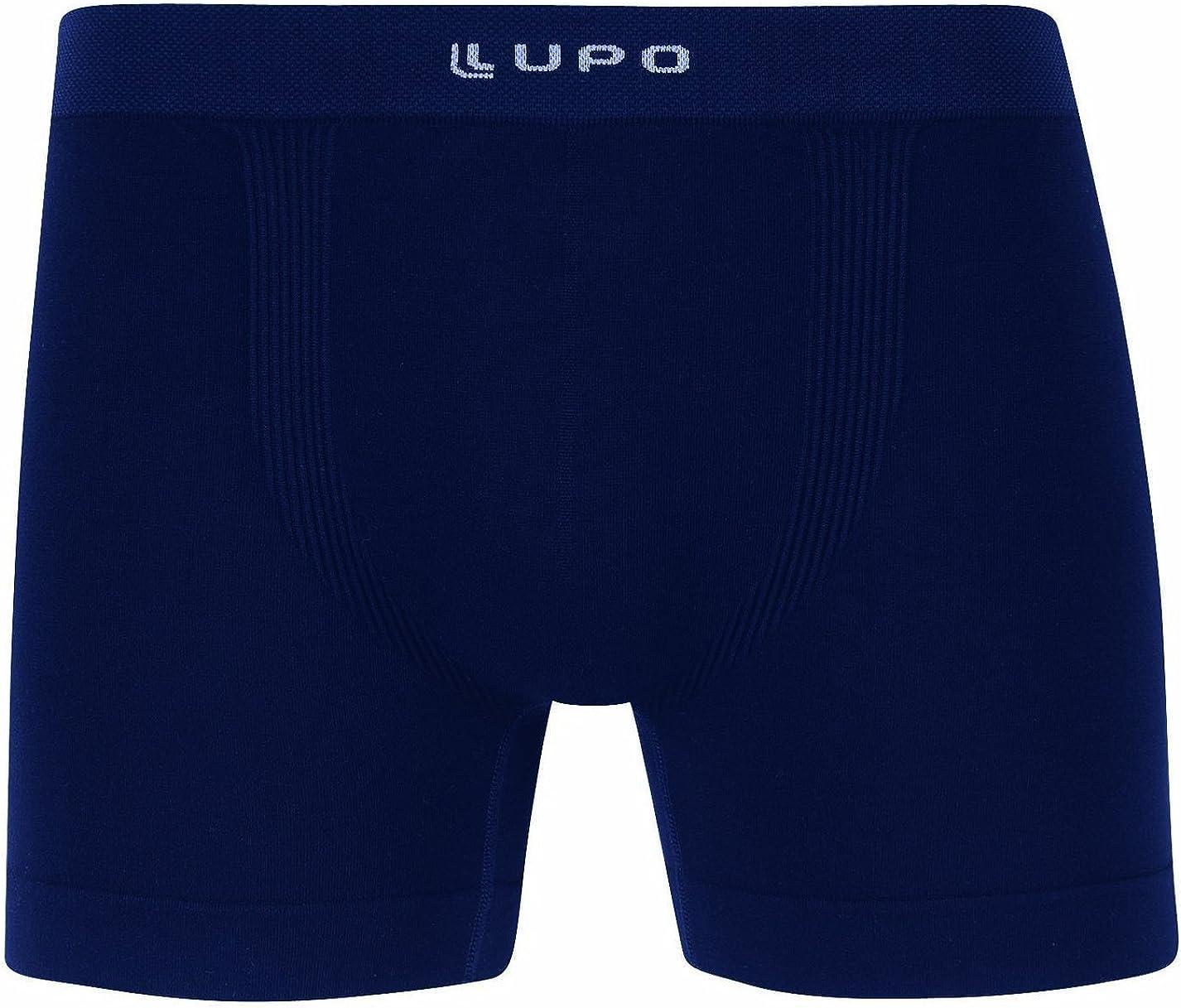 Lupo Men's Micro Modal Seamless Boxer Brief Underwear