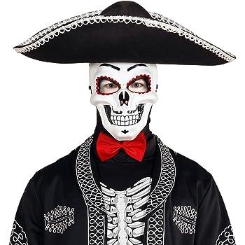 NET TOYS Máscara Mexicana de Muertos Careta La Catrina Antifaz ...
