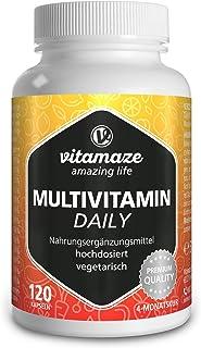 Multivitamin Kapseln hochdosiert, 13 Vitamine A, B, C, D, E, K, 120 vegetarische Kapseln..