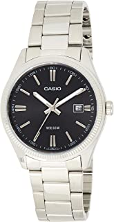 Casio Mens Quartz Watch, Analog Display and Stainless Steel Strap MTP-1302D-1A1