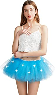 Best Comall Women LED Tutu Light Up Neon Rainbow 5 Layered Party Dance Tulle Skirt Review