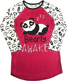 Long Sleeved Fleece Girls Nightgown Pajamas with Panda, Unicorn, and More Styles