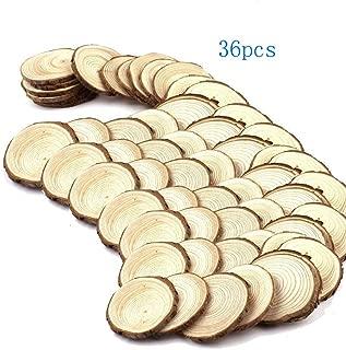 Mayeec Wood Slices 36pcs 2.8