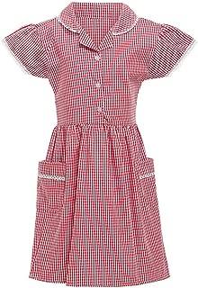 Landscap Summer Kids Gingham Girl Skirt Clothing Princess Turndown Lace Plaid Check Pocket School Dress Outfits