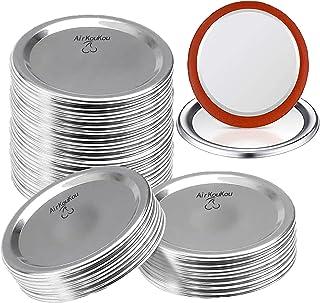 100 Count Regular Mouth Canning Jar Lids, 70mm Split-Type Metal Mason Jar Lids for Ball Kerr, 100% Fit&Airtight Canning fo...