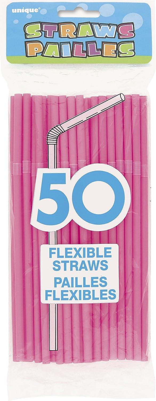 Ranking TOP12 Flexible Plastic Drinking Straws Sacramento Mall 50ct Hot Pink