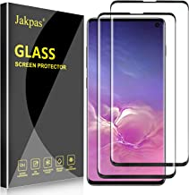 Jakpas [2 Pack] Screen Protector for Galaxy S10 (6.1-inch),Tempered Glass Screen Protector 9H Hardness [Bubble Free] [Anti-Scratch] [High Responsive] Work Most Case Compatible for Samsung Galaxy S10