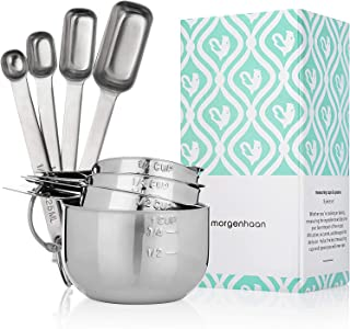 Morgenhaan 8-piece Lifetime Measuring Cups & Spoons Set with Forever Handles