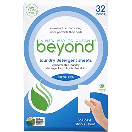 Beyond Concentrated Laundry Detergent Sheets (32 Loads) (Fresh Linen) Click to choose Free & Clear