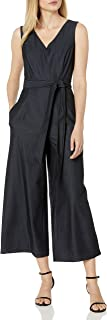Calvin Klein Women's Sleeveless Cropped Jumpsuit with Self Belt