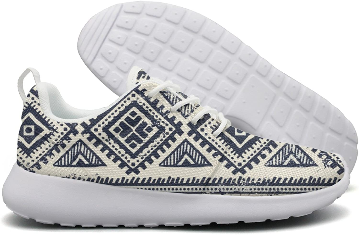 Vintage Elephant Tribal Aztec Triangles Womens Printing Design Running shoes Funny Cute