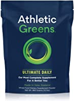 Athletic Greens Ultimate Daily, Whole Food Sourced All in One Greens Supplement Powder, NSF Certified, GlutenFree, Vegan...