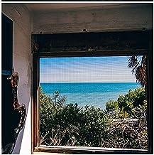 BASHI Vensterscherm, scheurvast raamnet, praktisch zelfklevend raamgaas, semi-transparant binnenlands raamnet, eenvoudig t...