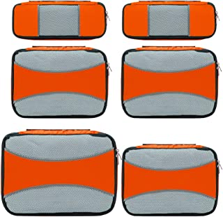 6 Set Packing Cubes for Travel,ZOMAKE Packing Organizers Bag for Carry on Luggage Orange