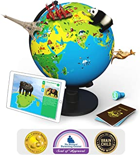 Shifu Orboot (App Based): The Educational, Augmented Reality Based Globe | STEM Toy for Boys & Girls Age 4 to 10 Years | Learning Toy Gift for Kids (No Borders and No Names on Globe)