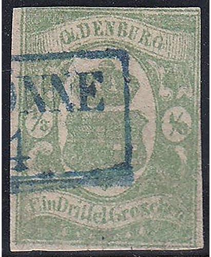 Goldhahn Oldenburg Nr. 10 a gestempelt geprüft Briefmarken für Sammler