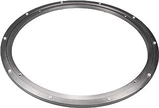 Gedotec Zwaarlast-draaischijf, 360° draaibaar, Ø 600 mm, draaitafel staal, zilver, drukkogellagers, draagkracht 300 kg, dr...