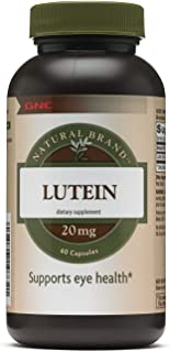 Gnc Natural Brand Lutein 20 Mg Capsules, 60 Count