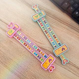 Fesap8DuOh-5Pcs Kids Math Arithmetic 1-10 Addition Subtraction Slide Ruler Education Toy - Random Color