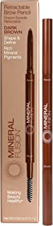 Mineral Fusion Retractable Brow Pencil, Dark Brown, .03 Ounce