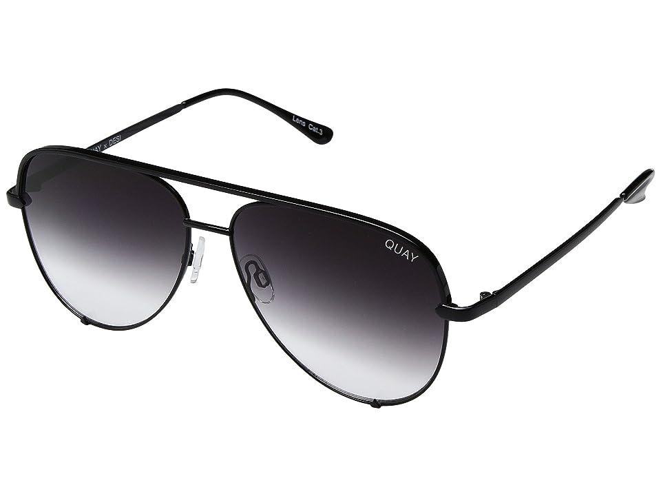 QUAY AUSTRALIA High Key QUAY X DESI (Black/Fade) Fashion Sunglasses