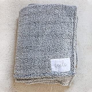 All the Feels Premium Sherpa Blanket, Throw, 50x60, Phantom Grey Lightweight Throw Blanket, Super Soft Cozy Blanket