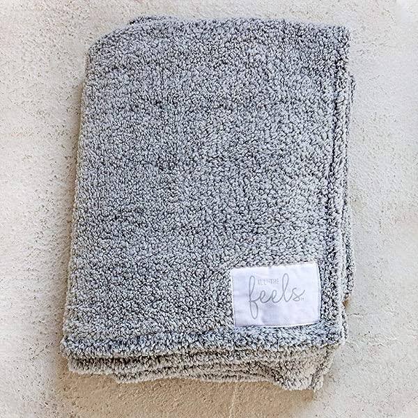 All The Feels Premium Sherpa Blanket Throw 50x60 Phantom Grey Lightweight Throw Blanket Super Soft Cozy Blanket