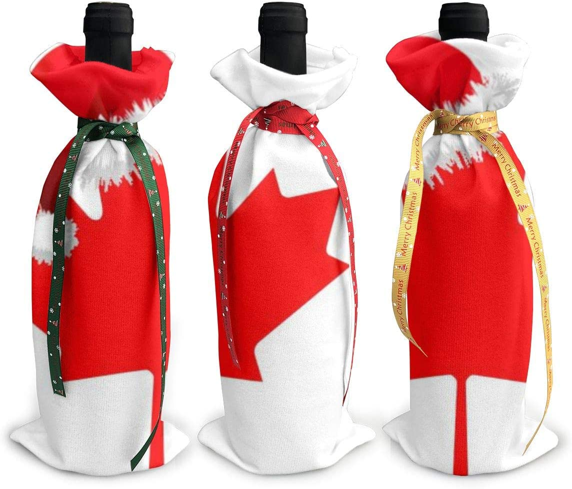 Canadian Flag Courier shipping free shipping NEW before selling Santa Hat Christmas3Pcs Gl Christmas Wine Xmas Red