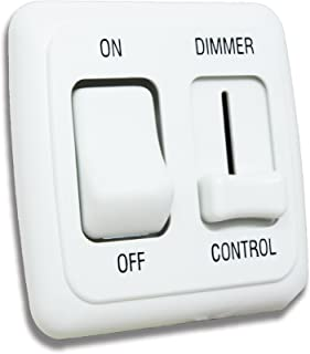 American Technology Components 12 Volt DC Dimmer Switch for LED, Halogen, Incandescent - RV, Auto, Truck, Marine, and Strip Lighting (Large Slider, White)