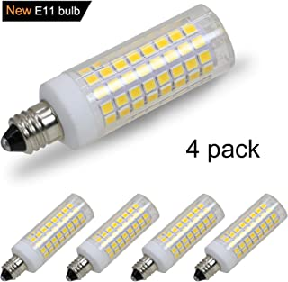 [4-Pack] E11 led Bulb, 75W or 100W Equivalent Halogen Replacement Lights, Dimmable, Mini Candelabra Base, 850 Lumens, Warm White 3000K, AC110V/ 120V/ 130V, Replaces T4 /T3 JD e11 Light Bulb.