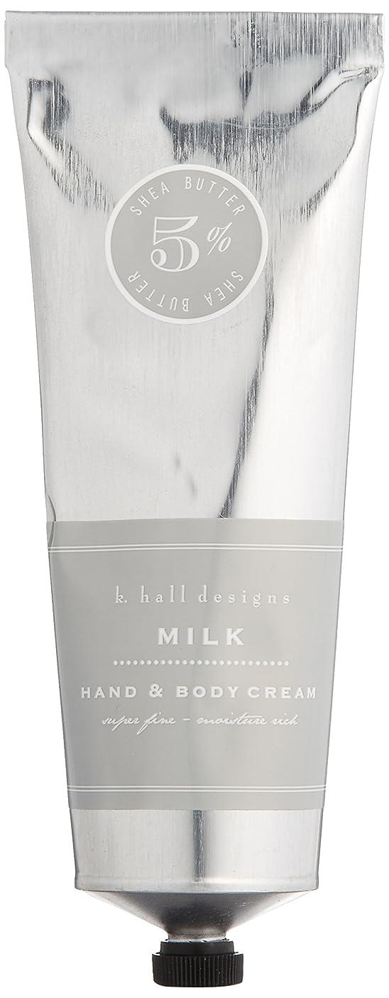 火山学刑務所シャンパンk.hall designs(ケイホール デザインズ) ハンド&ボディクリーム ミルク