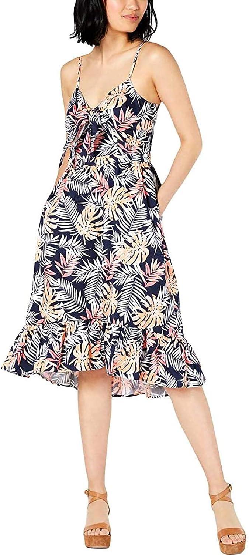 Maison Jules Women's Tie Front Flounce Dress