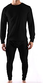 2 Piece Long Johns Top and Bottoms Waffle Knit Thermal Underwear Set for Men