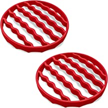 Silicone Roast Rack For Pressure Cooker (2 Pack), Steamer Rack Roasting Accessories Trivet Compatible With Oven, Crock Pot...