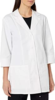 """Cherokee Women's Professional Whites with Certainty and Fluid Barrier 30"""" 3/4 Sleeve Lab Coat"""