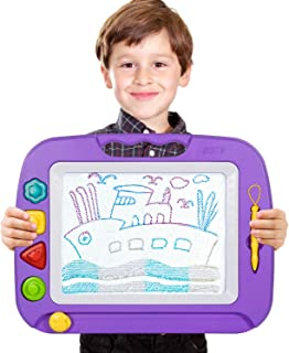 TONOR Large Non-toxic Magna Doodle Sketch Board Magnetic Colorful Erasable Drawing Board for Toddler Baby Kids Christmas G...