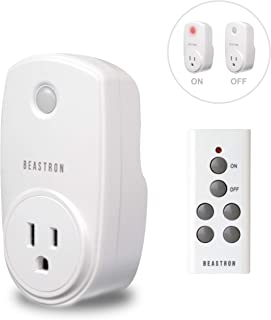 Beastron Remote Control Electrical Outlet Switch for Lights and Household Appliances with..